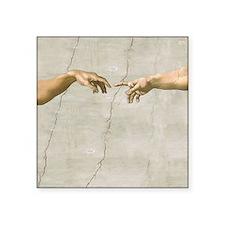 Creation of Adam Fingers Sistine Michelangelo Stic