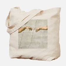 Creation of Adam Fingers Sistine Michelangelo Tote