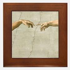 Creation of Adam Fingers Sistine Michelangelo Fram