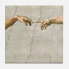 Creation of Adam Fingers Sistine Michelangelo Tile