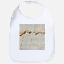 Creation of Adam Fingers Sistine Michelangelo Bib
