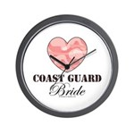 Coast Guard Bride Pink Camo Wall Clock