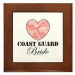 Coast Guard Bride Pink Camo Framed Tile