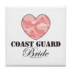 Coast Guard Bride Pink Camo Tile Coaster