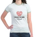 Coast Guard Bride Pink Camo Jr. Ringer T-Shirt