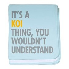 Its A Koi Thing baby blanket