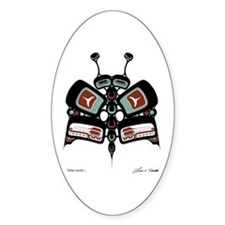 Tléiloo (Moth) Oval Decal