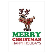 Personalized Merry Christmas Reindeer Invitations