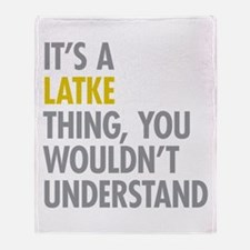 Its A Latke Thing Throw Blanket