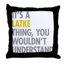Its A Latke Thing Throw Pillow
