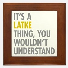 Its A Latke Thing Framed Tile