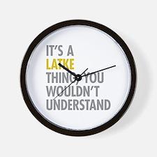 Its A Latke Thing Wall Clock