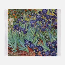 Van Gogh Purple Iris Colorful Floral Painting Thro