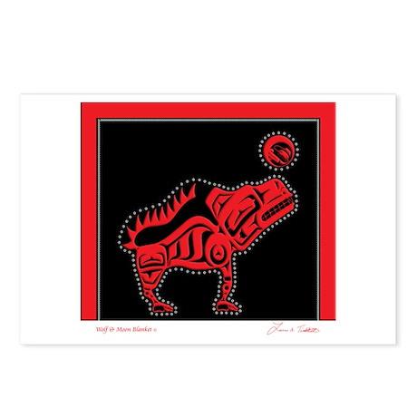 Wolf & Moon Blanket Postcards (Package of 8)