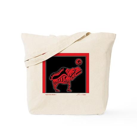 Wolf & Moon Blanket Tote Bag