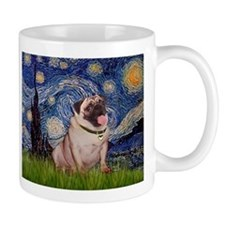 Starry Night and Fawn Pug Mug