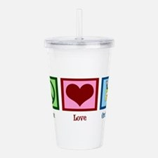 Peace Love Orchestra Acrylic Double-wall Tumbler