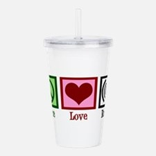 Peace Love Radio Acrylic Double-wall Tumbler