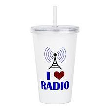 I Love Radio Acrylic Double-wall Tumbler