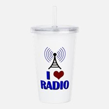 I Love Radio Acrylic Double-wall Tumbler