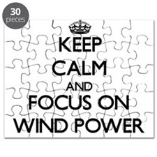 Keep Calm by focusing on Wind Power Puzzle