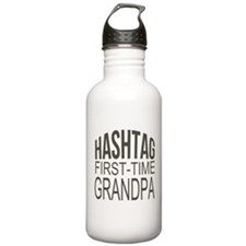 First Time Grandpa Water Bottle