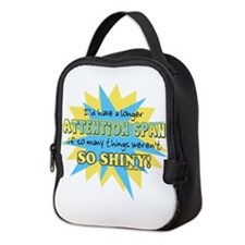 Attention Span Shiny Neoprene Lunch Bag