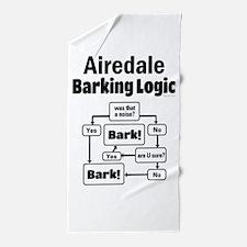 Airedale Logic Beach Towel