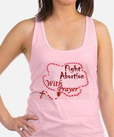 Pray Rosary Fight Abortion Racerback Tank Top