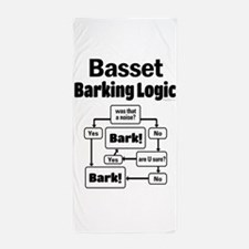 Basset Logic Beach Towel