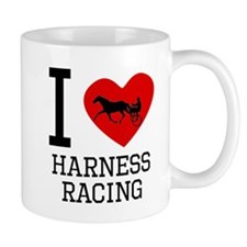 I Heart Harness Racing Mugs