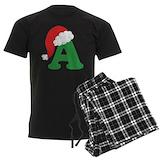 Christmas letter Men's Dark Pajamas