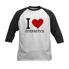 I Heart Gymnastics Baseball Jersey
