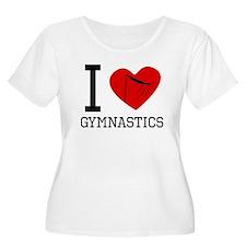 I Heart Gymnastics Plus Size T-Shirt