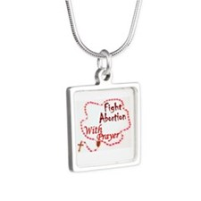 Pray Rosary Fight Abortion Necklaces