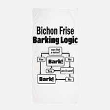 Bichon Frise Logic Beach Towel
