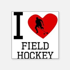 I Heart Field Hockey Sticker