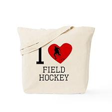 I Heart Field Hockey Tote Bag