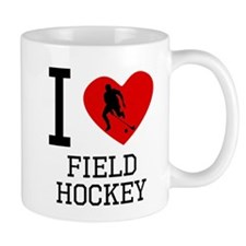 I Heart Field Hockey Mugs