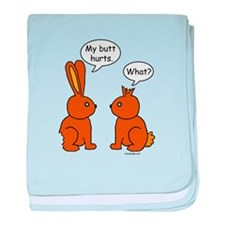 Funny Chocolate Bunnies baby blanket