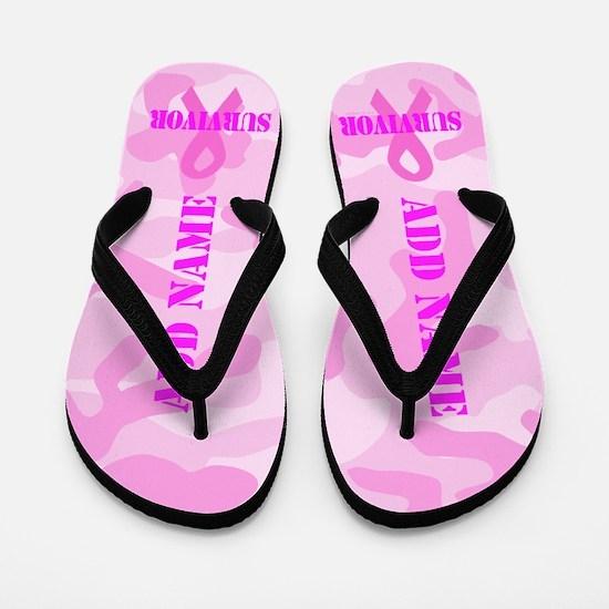 Survivor Pink Camo Flip Flops