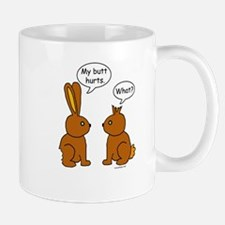 Funny Chocolate Bunnies Mugs