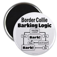 Border Collie Logic Magnet