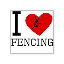 I Heart Fencing Sticker