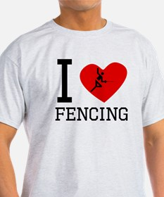 I Heart Fencing T-Shirt