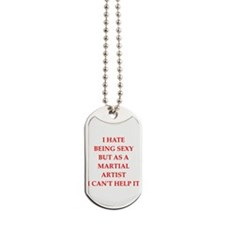 martial artist Dog Tags