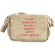 martial artist Messenger Bag