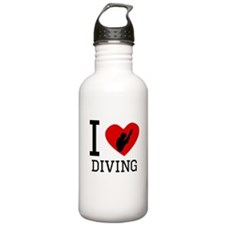 I Heart Diving Water Bottle