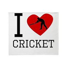 I Heart Cricket Throw Blanket