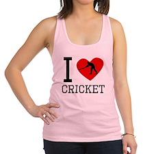 I Heart Cricket Racerback Tank Top